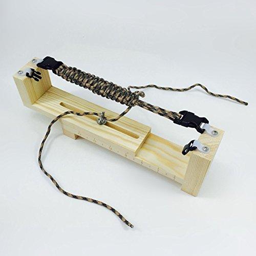 UltimaFio(TM) 1PC Bracelet Knitting Tool Maker Solid Wood DIY Paracord Jig Bracelet Marker Handmade Wristband Craft - Opener Bottle Wristband