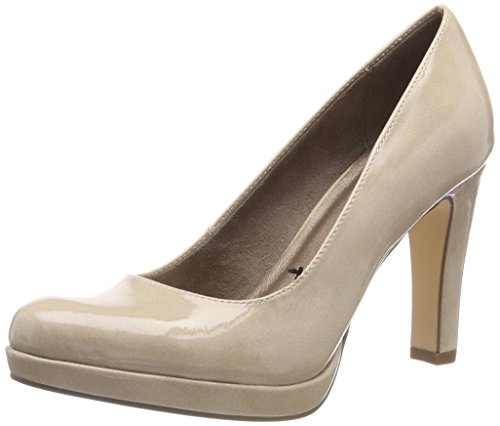 con 22426 Tamaris Patent Donna Beige 450 Tacco Scarpe Cream q1nxH4v