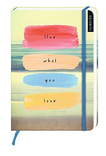 myNotes: Live What You Love / Notizbuch groß / blanko