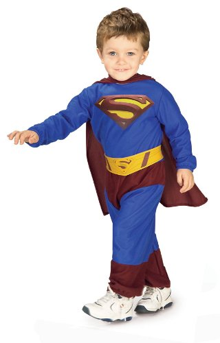 Superman Costumes Variations (Superman Returns Jumpsuit And Cape Superman, Superman Print, 6-12 Months Costume)