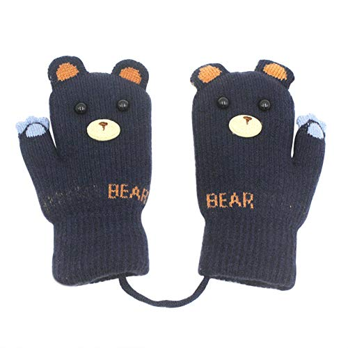 Aibearty Toddler Warm Stretch Mittens Kids Soft Plush Lined Gloves