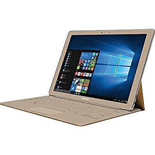 "Samsung Galaxy TabPro S Convertible 2-in-1 Laptop / Tablet, 12"" FHD+ Touchscreen - Intel Core m3-6Y30 - 8GB DDR3 Memory - 256GB SSD - Windows 10 - Bluetooth – Webcam - Gold (Keyboard Included)"