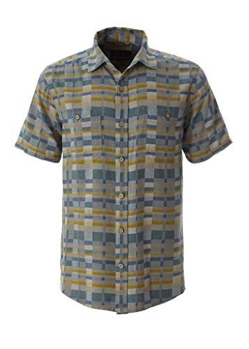 Royal Robbins 721002 Men's Slab City Dobby Short Sleeve Shirt, Antique Moss - M