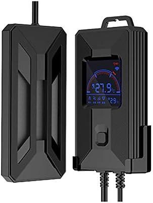 Coco Inteligente de frecuencia Variable Calentador de Acuario termómetro de cerámica Calentador con Alarma de Seguridad y termostato Digital, ...