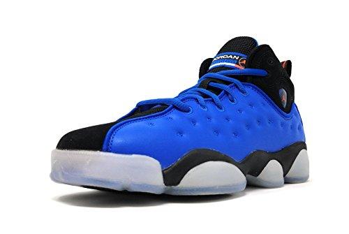 Jordan Kids Jumpman Team II Basketball Shoes Blue Spark/Total Crimson/Black