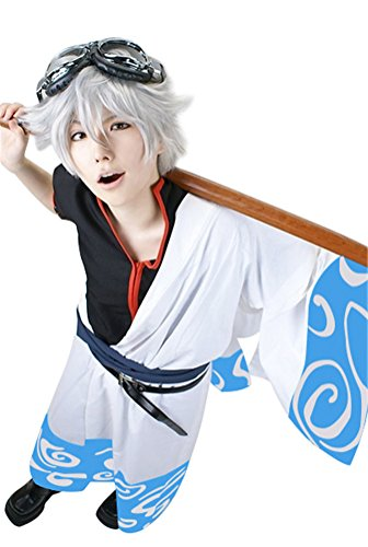 Nuoqi Japan Men's Anime White Cosplay Costumes