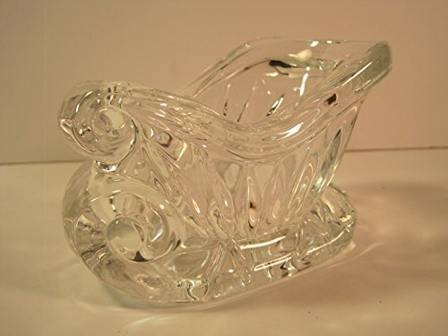 [Glass Christmas Sled/Sleigh Candy Dish, 5 Inches] (Christmas Sleigh Candy Dish)