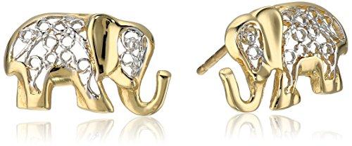Elephant Gold Earrings - 4