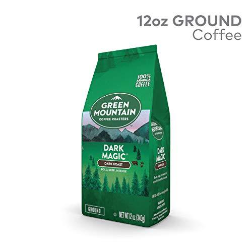 - Green Mountain Coffee Roasters, Dark Magic, 12 oz. Ground Bag, Dark Roast Coffee, (2) Bags
