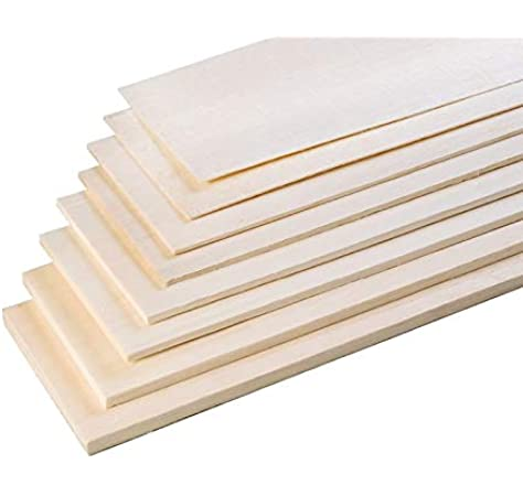 Balsa Wood Bundle Small Pack Mixed Sheets Various Thickness Model Build Projects