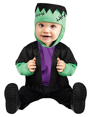 Infant Monster Baby Green Costumes (Infant size Baby Li'l Green Monster - Frankenstein - Small 6-12 Months)