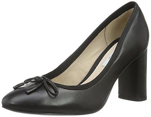 Leather Faye black Tacco Con Clarks Nero Donna Scarpe Idamarie pqBB87