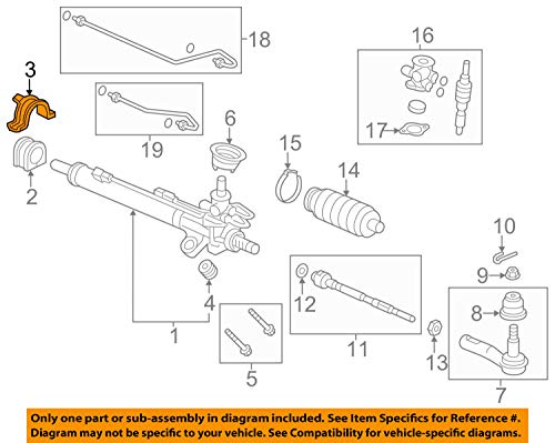 Genuine Honda 53438-SHJ-A00 Steering Rack Bracket
