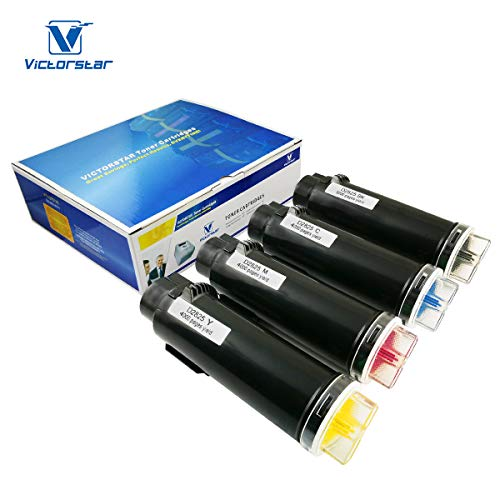 (4 Colors Compatible Toner Cartridges S2825cdn H625cdw H825cdw The Highest Volume Yield 5000 Pages for BK & 4000 Pages for C/M/Y VICTORSTAR for Dell Color Laser Printers H625cdw H825cdw S2825cdn (4C))