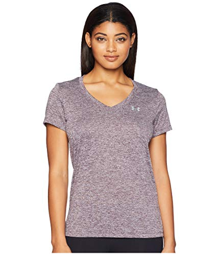 Under Armour Women's Tech V-Neck Twist, Pixel Purple (509)/Metallic Silver, Medium