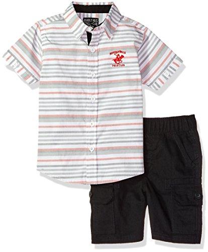 Beverly Hills Polo Club Boys Woven Shirt & Short Set
