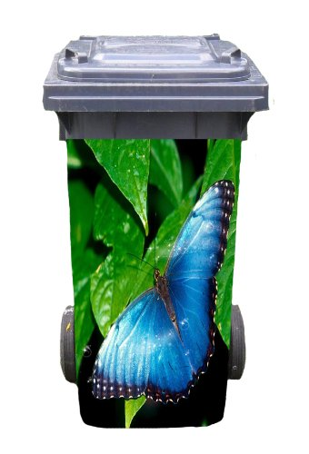 Mülltonnen-Aufkleber Motiv Schmetterling 31 cm x 70 cm für 120 l Tonne