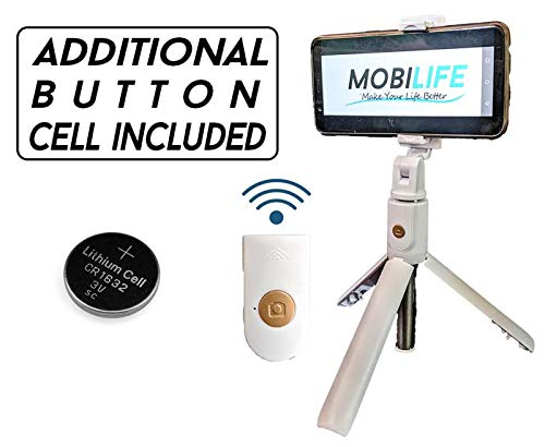 Mobilife K07 Bluetooth Selfie Stick,mobile stand, Extendable Selfie Stick with Wireless Remote and Tripod Stand Selfie Stick for all smart Phone , iPhone X/iPhone 8/8 Plus/iPhone 7/iPhone 7 Plus/Galaxy Note 8/Google and More (White)