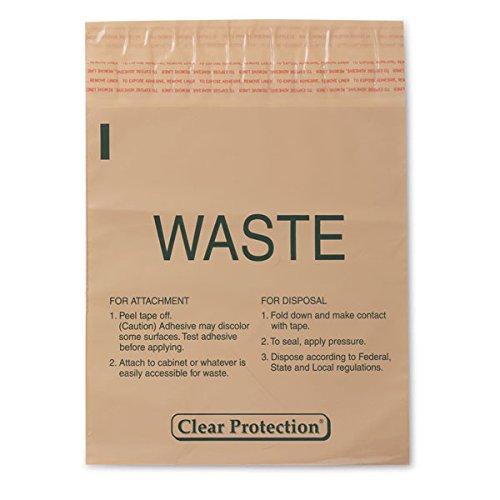 Stick-On Bag Waste 9''W x 10''H 1.4qt