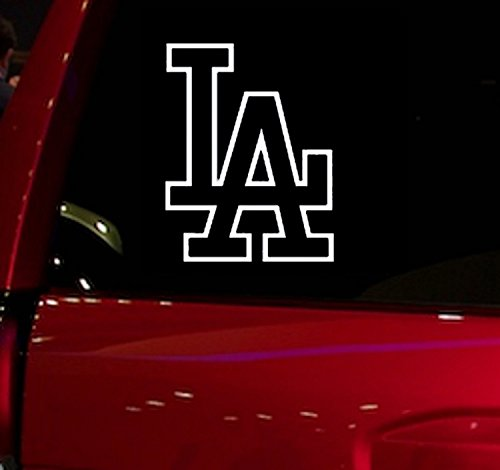 WALL BANNERS LLC Car - Sticker - Decal - Dodgers - Baseball - for car, truck, window, glass, suv, laptop, skateboard, computer, folder, etc. ()