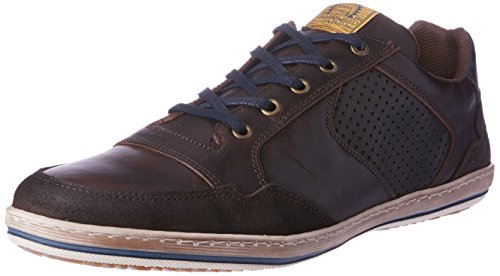 Wild Rhino Men Crest Trainers Shoes Brown (DARK BROWN)