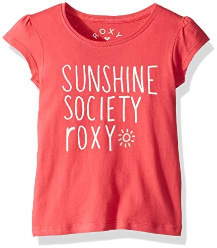 (Roxy Girls Little Rise Short Sleeve T-Shirt, Honey Suckle, 5)