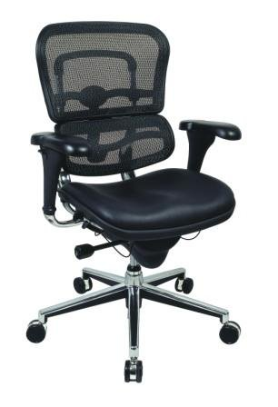 - Eurotech Mid Back Black Mesh Office Chair - Ergohuman LEM6ERGLO