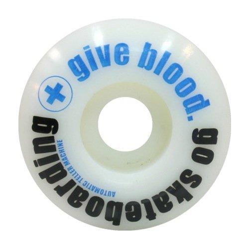 ATM Skateboard co Acid Wheel Co Give Blood Wheels, 51mm, Blue