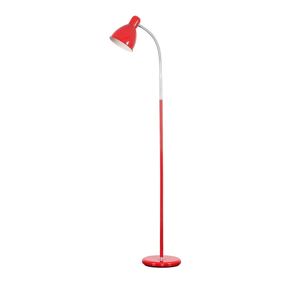 Modern Gloss Adjustable Reading/Study/Craft Floor Lamp - Complete With 1 x 13w ES E27 Daylight CFL Bulb MiniSun