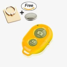 Bluetooth Wireless Remote Control Camera Shutter Release Self Timer with Free Phone Ring Holder for iPhone, iPad, Samsung Galaxy, Note Tab, Google Nexus, HTC, Sony and other iOS Android Phones(ORANGE)