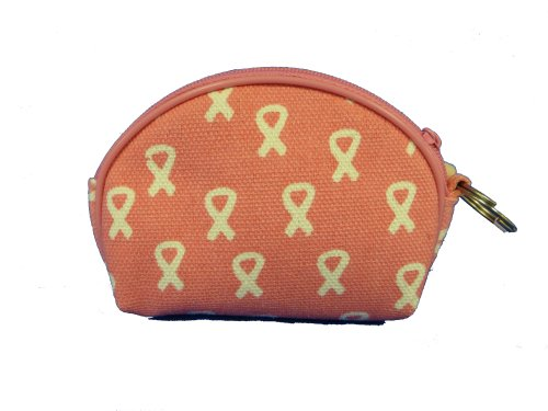 Pink Coin Purse With White Cancer (Pink Ribbon Coin)