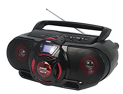 NAXA ELECTRONICS Naxa Npb-273 Portable Bluetooth Am/fm/cd/cassette/usb Boombox