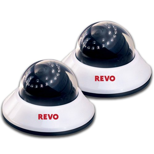 REVO America RCDS30-2ABNDL2 660 TVL Indoor Dome Camera with 80-Feet Night Vision (White/Black), Pack of - Revo Price