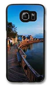Beautiful Sunset PC Case Cover for Samsung S6 and Samsung Galaxy S6 Black