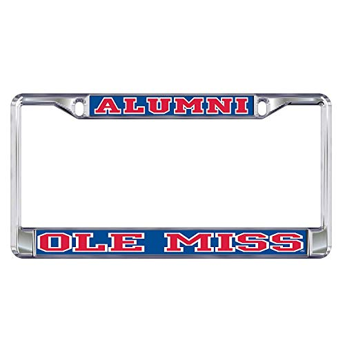 B.Fighting Domed OLE Miss Alumni Plate FR Mississippi Plate - Alumni Miss Ole