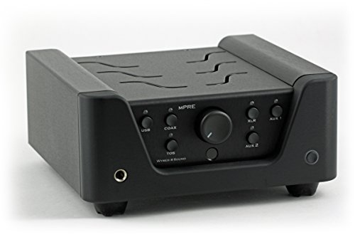 Wyred 4 Sound mPRE (BLACK) - Premium Audiophile Stereo Preamplifier with Built-in DAC and Headphone Amplifier