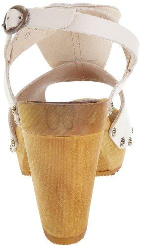Sanita - Zapatos de cuero para mujer Marfil