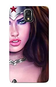 Fashionable Style Case Cover Skin Series For Galaxy Note 3- Adriana Lima As Wonder Woman by lolosakes