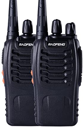 Baofeng BF-888s UHF High Power Intelligent FM Illumination Flashlight Walkie Talkie Two-Way Radio 2 Pack