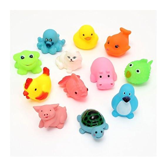 jmv Soft Bath Plush Chu-Chu Toys (Multicolour) - Pack of 12