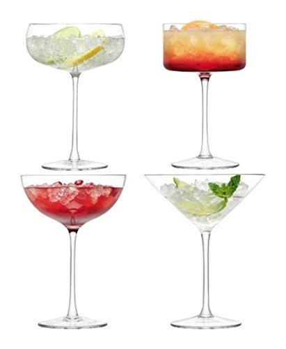 LSA International Lulu Champagne/Martini Glass , 6.8 - 10.5 fl.oz., Assorted by LSA - Glasses Lulu