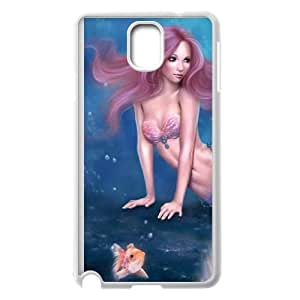 Aurelia Mermaid with Fish Samsung Galaxy Note 3 Cell Phone Case White Phone Accessories VG_925619