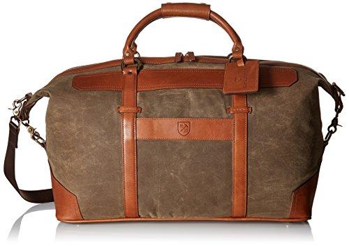 Price comparison product image Allen Edmonds Men's Canvas Leather Duffle, Olive Tent/Dark Tan Saddle