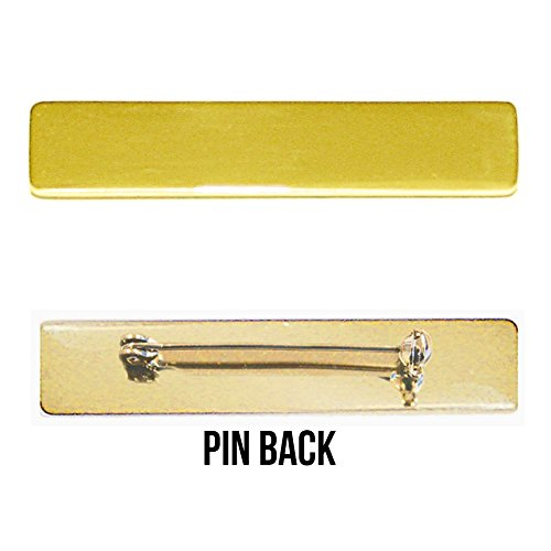 Engraved Metal Name Badges Engraved Metal Security Police Fire Military  Nameplates (Gold w/ Flag, Clutch Backing)