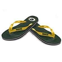 2014 Womens NFL Football Team Logo Glitter Thong Flip Flop Sandals - Choose Team