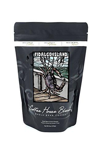 Fidalgo Island, Washington - Dungeness Crab - Scratchboard (8oz Whole Bean Small Batch Artisan Coffee - Bold & Strong Medium Dark Roast w/ Artwork)