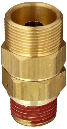 """Control Devices Brass Load Genie Unloading Check Valve, 3/4"""" Tube Comp. x 1/2"""" MPT"""