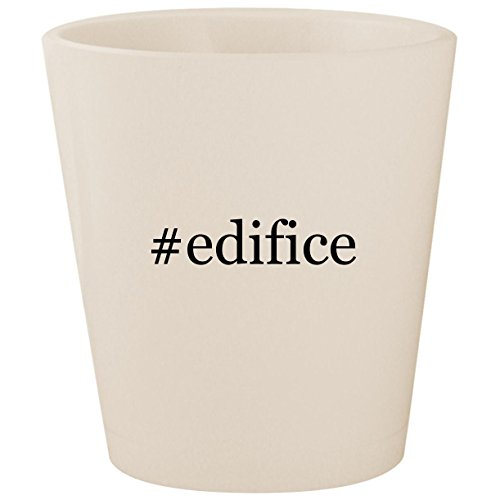 #edifice - White Hashtag Ceramic 1.5oz Shot Glass