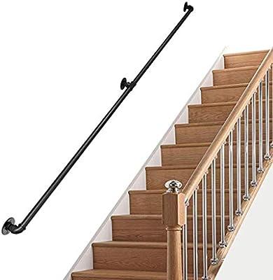 Barandillas hierro forjado para escaleras paso exteriores o interiores | Barandilla escalera para niños mayores discapacitados | Barandilla Barandilla Soporte Montaje en pared Exterior Interior (30c: Amazon.es: Deportes y aire libre