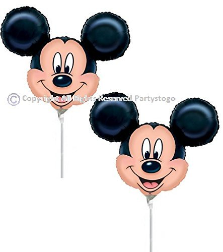 DISNEY MICKEY MOUSE BIRTHDAY PARTY MINI SHAPE BALLOONS FAVORS DECORATIONS (QTY10) -